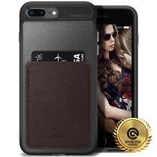 OBLIQ® iPhone 8/7/Plus [Flex Wallet] Case ID/Credit Card Holder TPU Leather Case