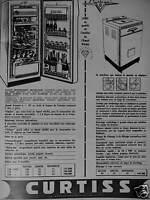 PUBLICITÉ 1956 CURTISS MACHINE A LAVER RÉFRIGÉRATEUR - ADVERTISING