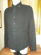 Chemise coton noir rayé KENZO HOMME XXL 44/46 manche longue