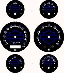 Harley Davidson ST Glide, FLTRX Road Glide Custom Gauge 2005-2013 HD Blue