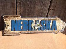 "Nebraska State Flag This Way To Arrow Sign Novelty Metal 17"" x 5"""