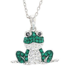 Rhodium Plated Crystal Frog Pendant (Retail $60.00)