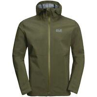 Jack Wolfskin JWP Shell Jacker Hooded Mens Zip Up Coat 1111501 5052 M