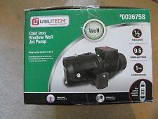 UtiliTech Cast Iron Shallow Well Jet Pump 0036758 New