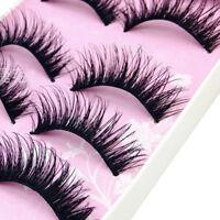 5 Pairs False Eyelashes Set Natural Long Thick Fake Eye Lashes Extension