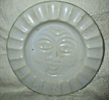 VINTAGE McCOY POTTERY ASHTRAY PLATE WHITE WITH FACE MID CENTURY MODERN