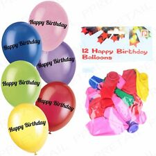 LARGE SET OF 120 HAPPY BIRTHDAY BALLOONS Colourful Latex/Rubber Party Decoration