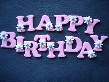 edible HAPPY BIRTHDAY cake decoration - choice of colour and decorations