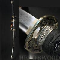 Handmade Japanese Tachi Knife Damascus Steel Samurai Katana Sword Very Sharp