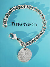 Tiffany & Co Notes Fifth Avenue Circle Round Tag Bracelet in Sterling Silver