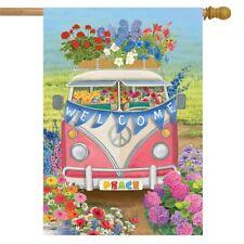 "Peace Van Floral House Flag Everyday Inspirational 28"" x 40"" Briarwood Lane"