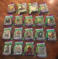 Teenage Mutant Ninja Turtles 18 Figure Lot Unmasked Shredder Mutagen Man Kraang