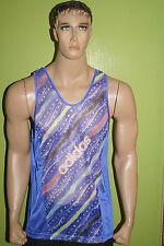 Adidas Vintage d6 Running Shirt Net Laufshirt réseau années 80/90 lucarre 1/4 Lapis