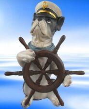 Figur See Hund Polystein farbig H.25x17cm Party Geschenk Dekoration Standfigur