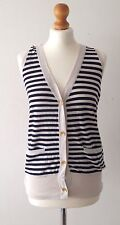 Striped Knitted Waistcoat With Twist Back
