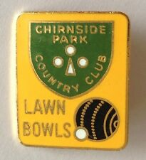 Chirnside Park Country Club Lawn Bowling Badge Rare Vintage (M8)