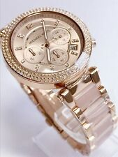 NEU Michael Kors MK5896 Parker Damen Uhr Armbanduhr Chronograph Edelstahl Rose