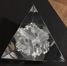 Daum France glass large semi pyramid interior steps blocks design by RH Lauret