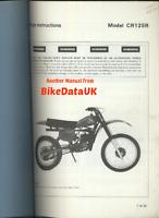 Honda CR125R Elsinore (1979) Official Dealers PDI Set-Up Manual CR 125 R CW37