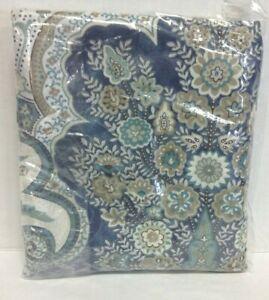 Pottery Barn Jordana Paisley cotton Percale bedroom pillow Sham cover King Blue