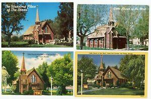 Vintage Lot of 4 LITTLE CHURCH OF THE WEST LAS VEGAS NV  POSTCARDS 1950s