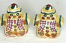 Gingerbread Cookies Pepper Salt Shakers Couple Jay China 1996 Vintage