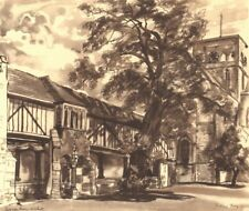 WINCHESTER. St. Cross Hospital. Hampshire. By Ferdinand Gray 1949 old print
