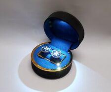LED LIGHTED CUFF LINKS BOX DIAMOND EARRINGS STUD ANNIVERSSARY BOX DISPLAY CASE