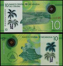 NICARAGUA 10 CORDOBAS (P210) 2014 (2015) POLYMER UNC