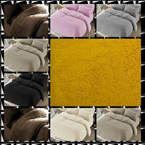 Teddy Bear Fur Sherpa Fleece Duvet/Quilt Cover Warm& cozy,Super Soft Snuggly set