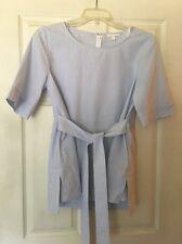 New Cos Blue & White Striped Blouse Women's Size L