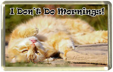 I Don't Do Mornings! Ginger Cat Fridge Magnet