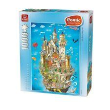 1000 Piece King Comic Collection Neuschwanstein Puzzle - Jigsaw Schloss Pieces