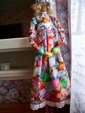 "Handmade Primitive Folk Art Doll Clara's Colorful Painted Easter Eggs- 21"""
