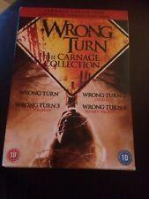 Wrong Turn 1-4 DVD (2012) Desmond Harrington Cert 18 4 Slim discs Boxset Vgc