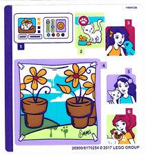 Lego 41305 Feuille Autocollant Pour Amis-Emma 's studio photo-NOUVEAU decals