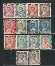 """Thailand """"King Rama IX Definitive"""" 2rd Series USED 14 Stamps"""
