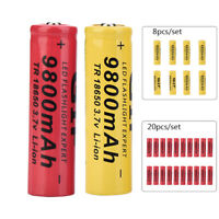 8-20pcs 18650 9800mAh 3.7V Li-ion Rechargeable Battery for LED Torch Flashlight