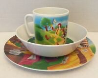 """1991 McDonald's Plate~Bowl~CUP Plastic's Manufacturing Co. USA """"ReCycle Here""""SET"""