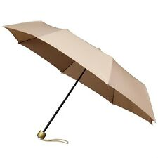 Señoras Minimax Supermini Paraguas Plegable Manual Resistente al viento-Beige