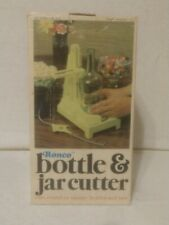 Ronco 1972 Bottle & Jar Cutter