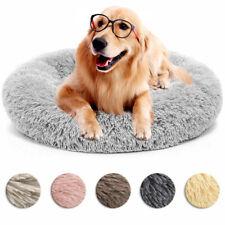 Donut Plush Cat Dog Puppy Calming Sleeping Bed Mat Round Nest Warm Soft Flufy