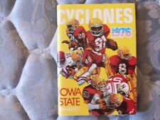 1976 IOWA STATE CYCLONES FOOTBALL MEDIA GUIDE Yearbook Program Press Book AD