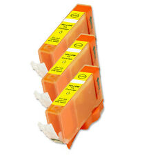 3 YELLOW Ink Cartridge for Canon Printer CLI-221Y MP560 MP620 MP640 iP4700