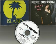 FEFE DOBSON I want you ULTRA RARE 2010 PROMO Radio DJ CD Single MINT USA