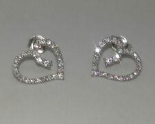 Orecchini con diamanti H Farfallina in oro bianco