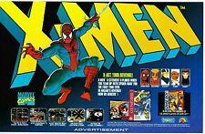 Vtg. 1993 Marvel SPIDER-MAN / X-MEN Nintendo SNES Sega video game print ad page