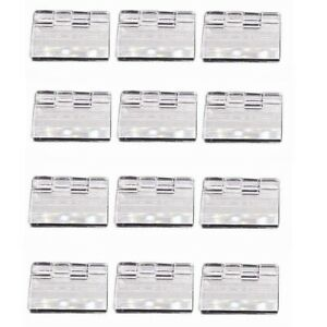 US Stock 12pcs Clear PMMA Acrylic Plastic Folding Plexiglass Hinge 30x 33mm A578