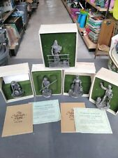 Vtg The American People 1876-1976 Franklin Mint Pewter Figurines *5 Figurine Lot