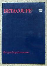 LANCIA BETA COUPE Car Sales Brochure c1981 #88795969
